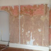 Fred & Ginger - Stripped walls ready for painting