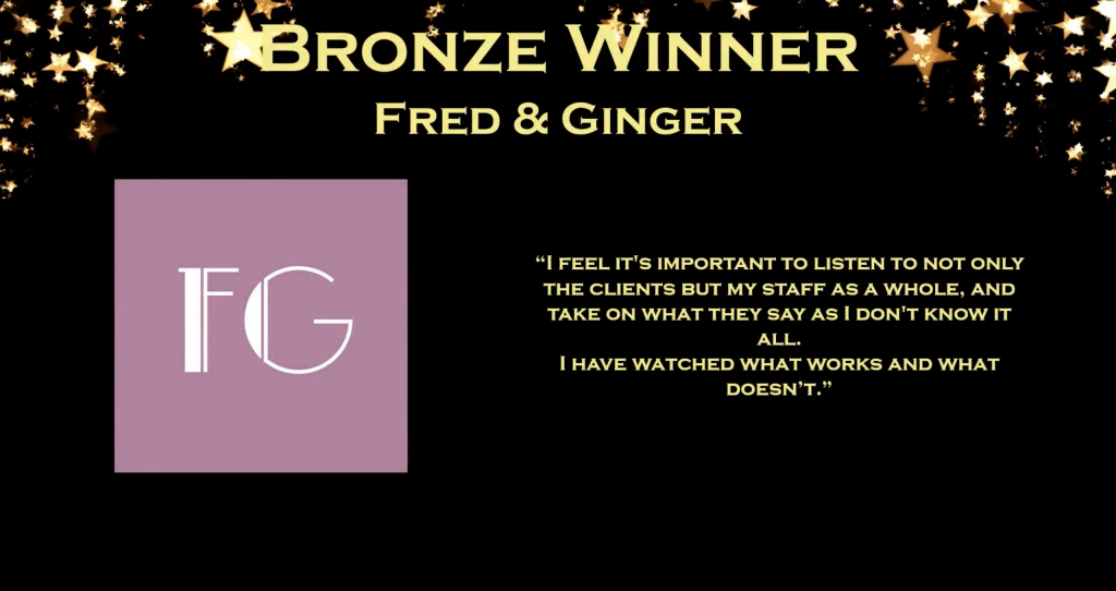 Fred & Ginger 2018 Bronze Award Winners